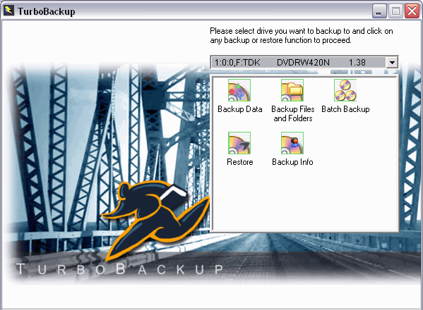TurboBackup DVD (Personal Edition) Screen shot