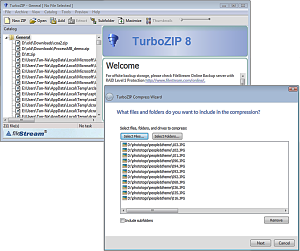 TurboZIP Compression Suite full screenshot