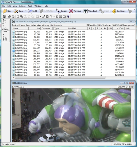 FileStream TurboZIP Express Screen shot